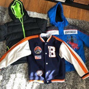 Lot of 3 boys winter jackets Sz 5-6, batman